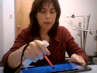 Amy Demonstrating a Horizontal Stylus
